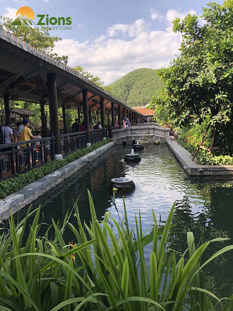 Hồ cá koi bà nà hill - Đà Nẵng