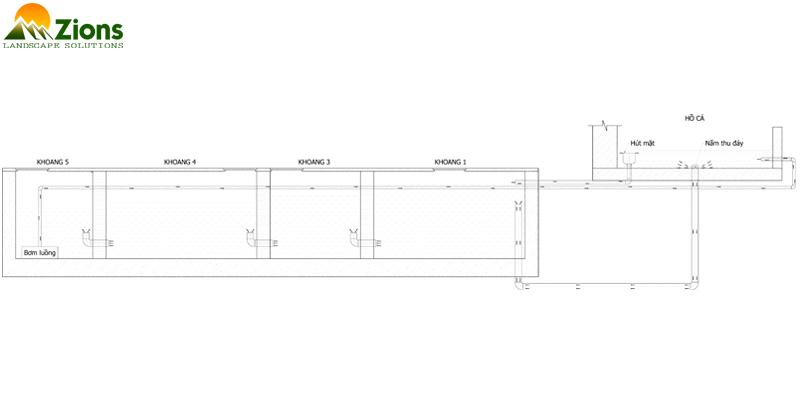 Thiết kế hệ lọc hồ Koi đạt chuẩn