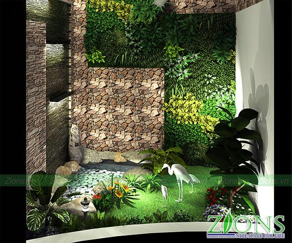 Tường cây tại bệnh viện Medlatec